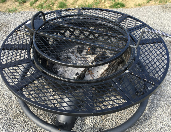 Fire pit for evening fireside chats