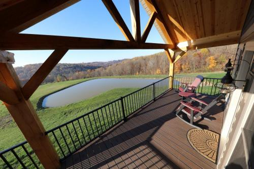 Super wide shot from the Willow Cottage porch.