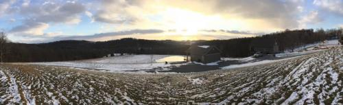 Panorama view of the pond at Hillside.